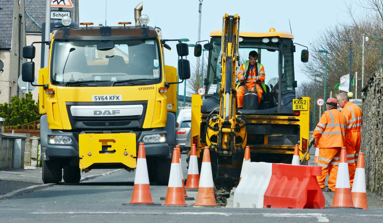 Photo: Roadworks At Ackergill Street, Wick - Early works For The New Noss Primary School