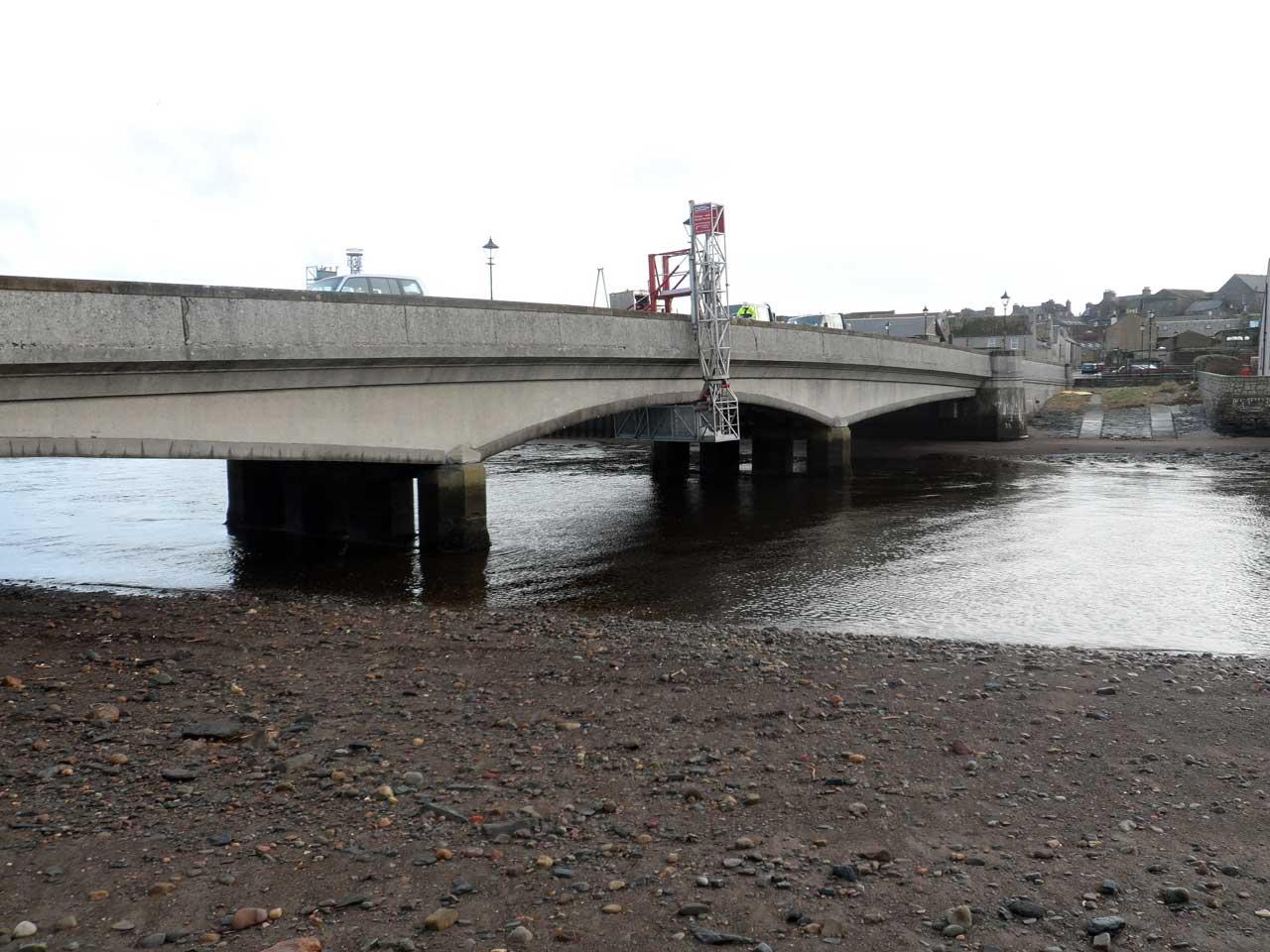 Photo: Repairing Pipes Under Service Bridge, Wick