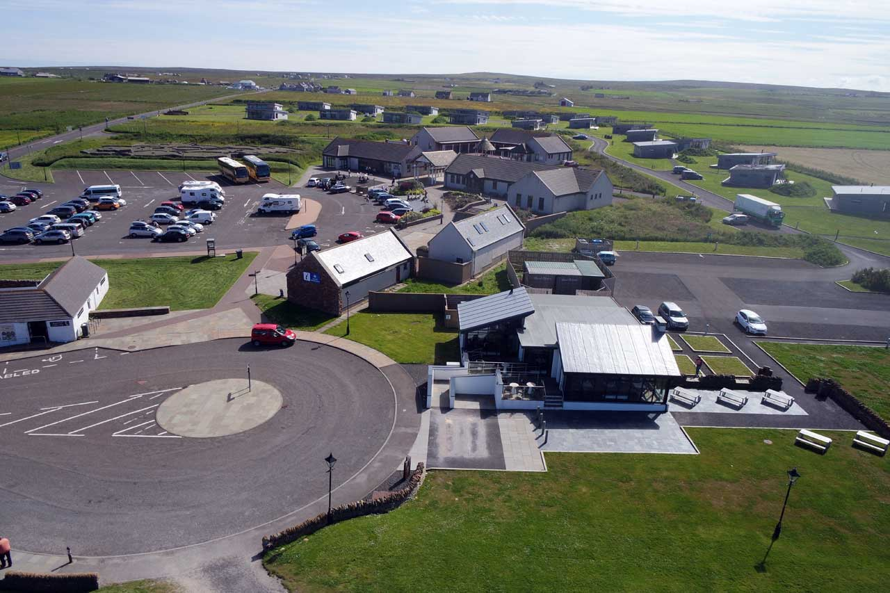 Photo: John O'Groats - From above the harbour to the chalets