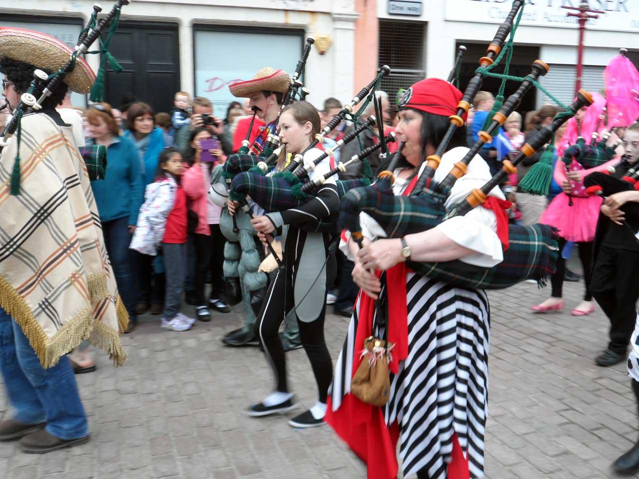 Photo: Wick Pipe Band Week 2015 - Fancy Dress Parade