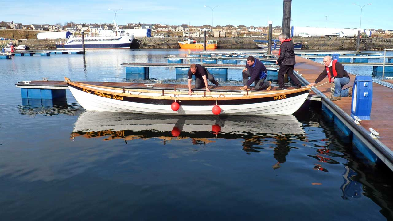 Photo: Wick Coastal Rowing Club Launch Second Skiff - Pulteney Lass