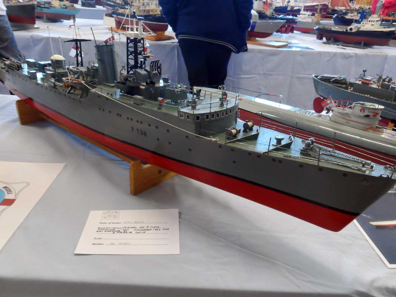 Photo: HMS Rapid - Destroyer 1944 - Model Boat Show 2015