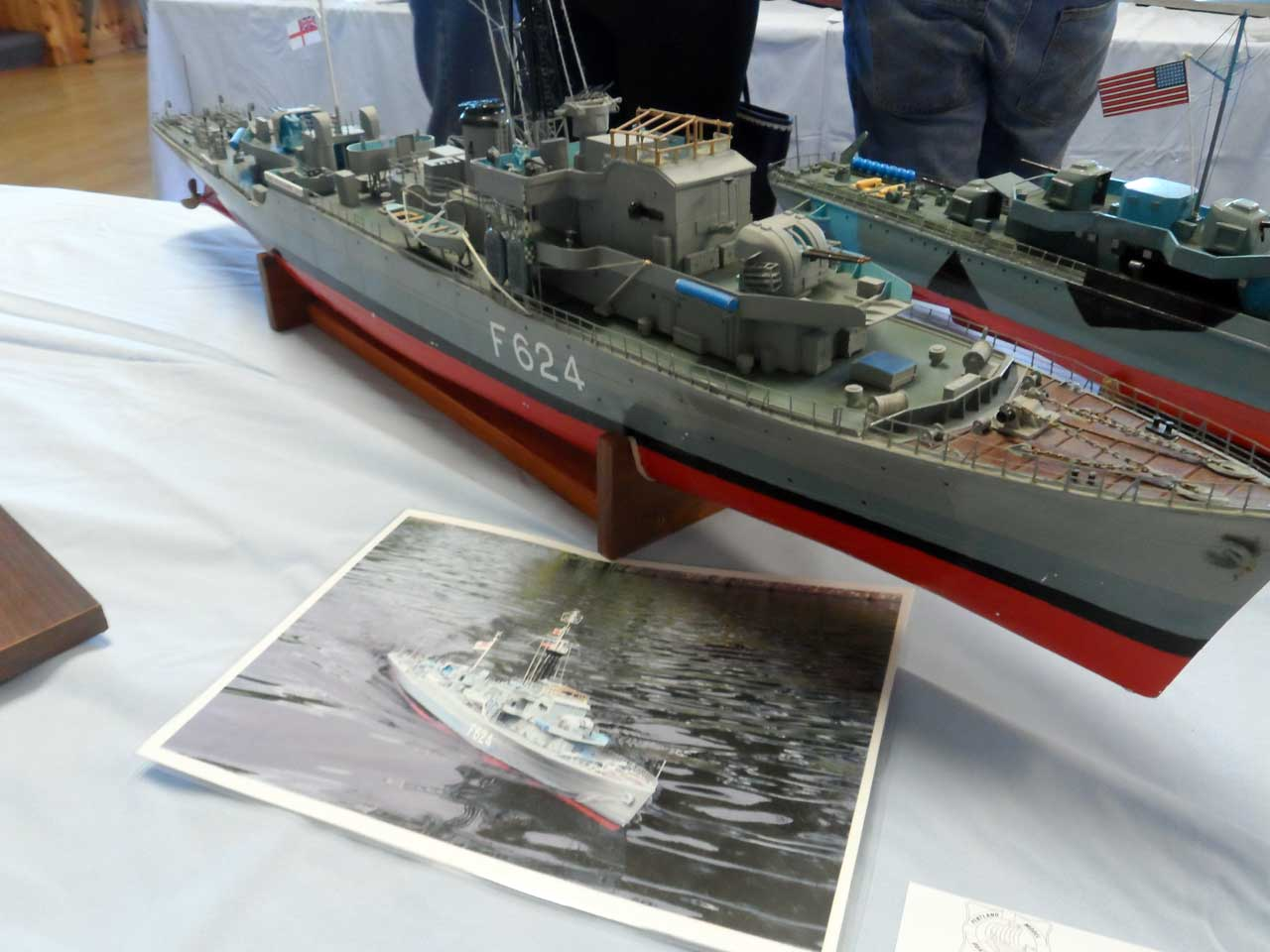 Photo: HMS Morecamb Bay - Frigate - Model Boat Show 2015