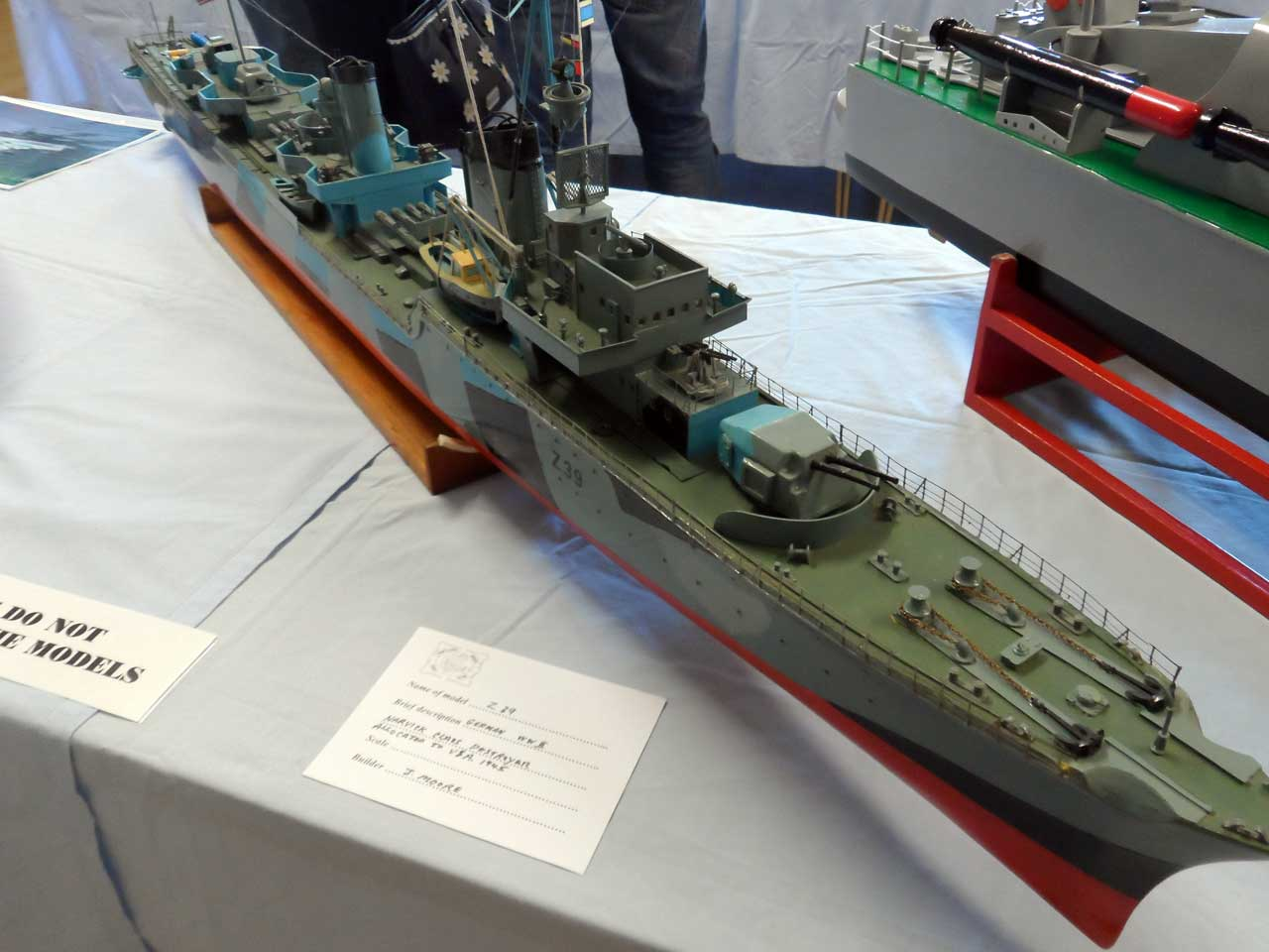 Photo: Z39 - German WW2 - Narvick Class Destroyer - Model Boat Show 2015