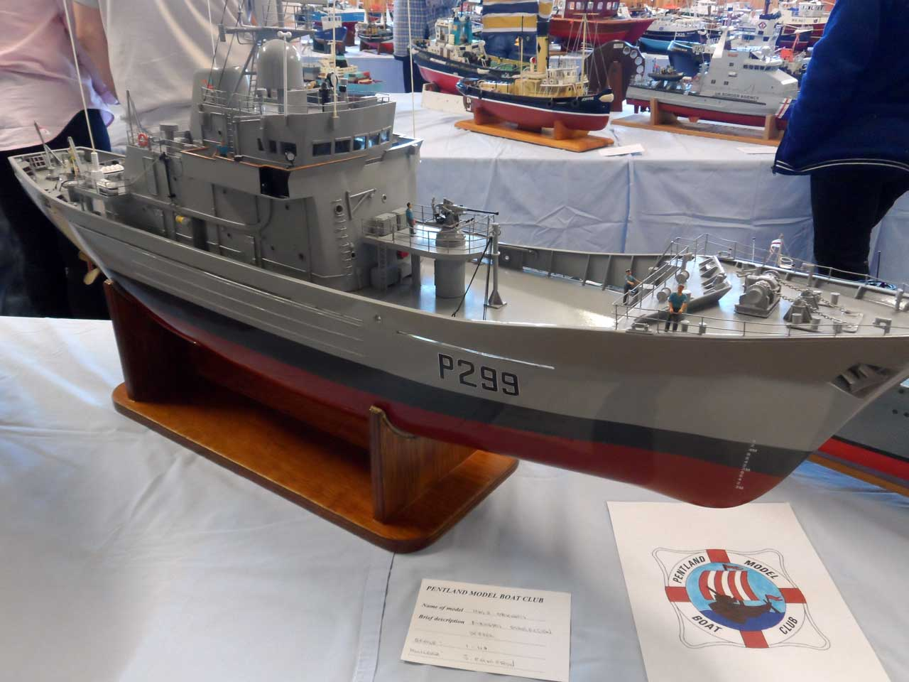 Photo: HMS Orkney  - Fishery Protection Vessel - Model Boat Show 2015