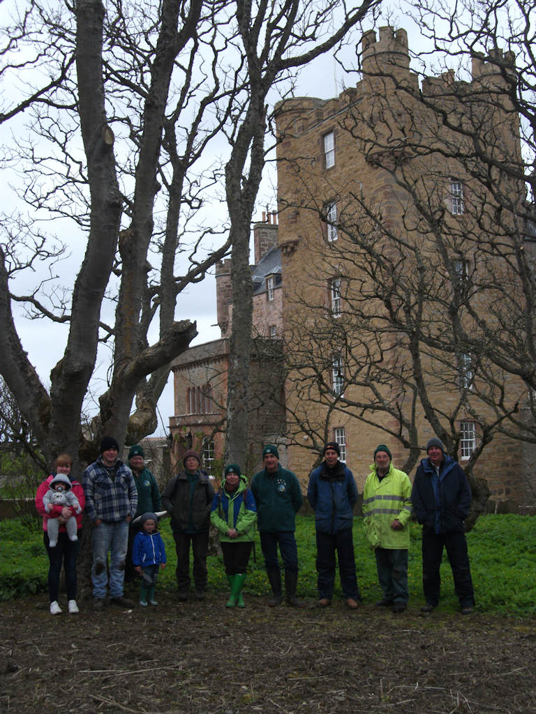 Photo: Volunteers work in woodlands at Castle Mey