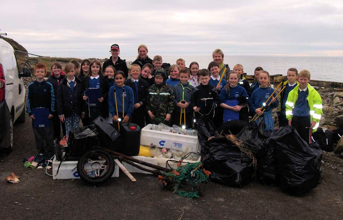 Photo: Hillhead School Pupils Collected 633 Items Of Litter