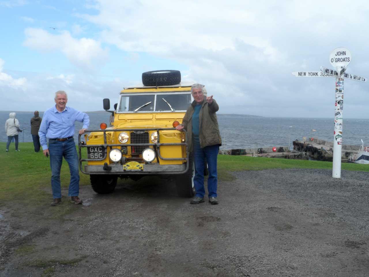 Photo: Landrover Charity Convoy At John O'Groats