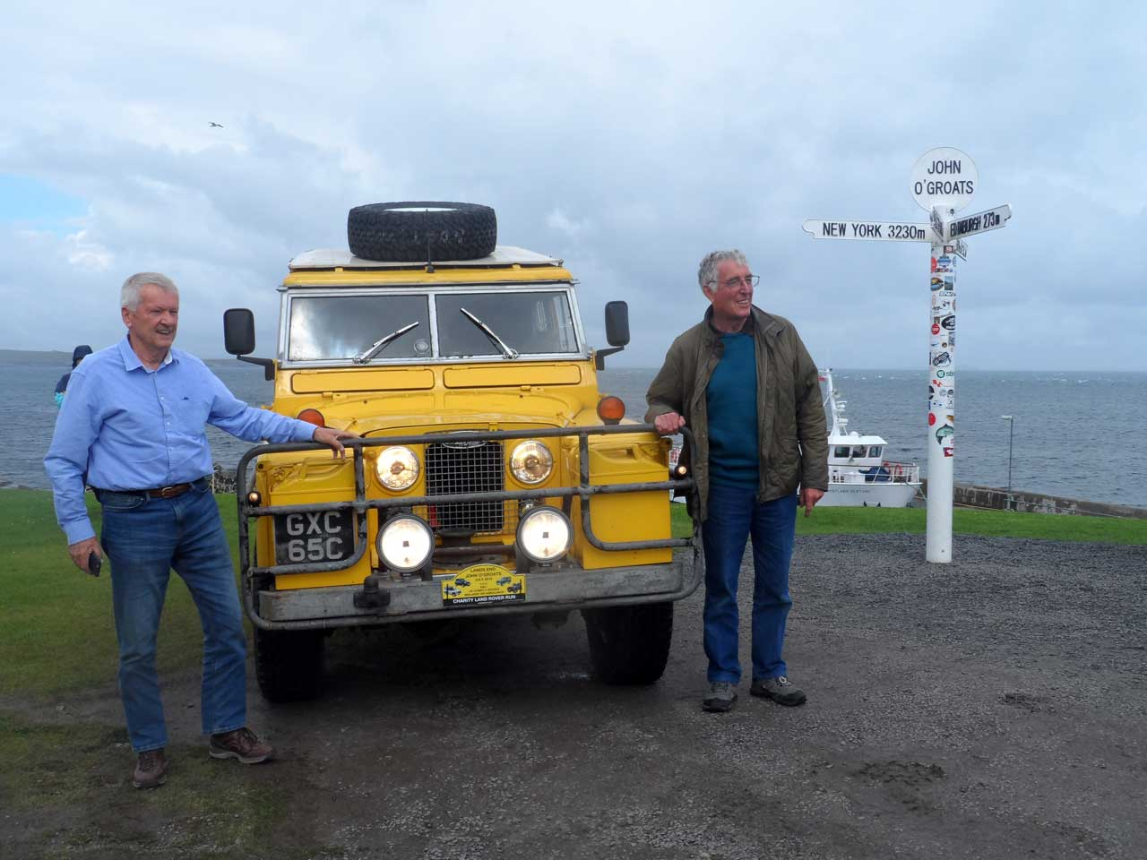 Photo: Landrover Charity Convoy At John O'Groats