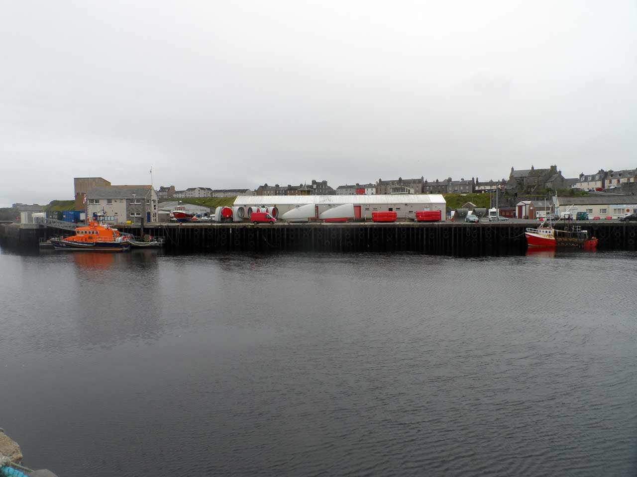 Photo: Turbines At Wick Harbour Bound For Lochend Wind Farm