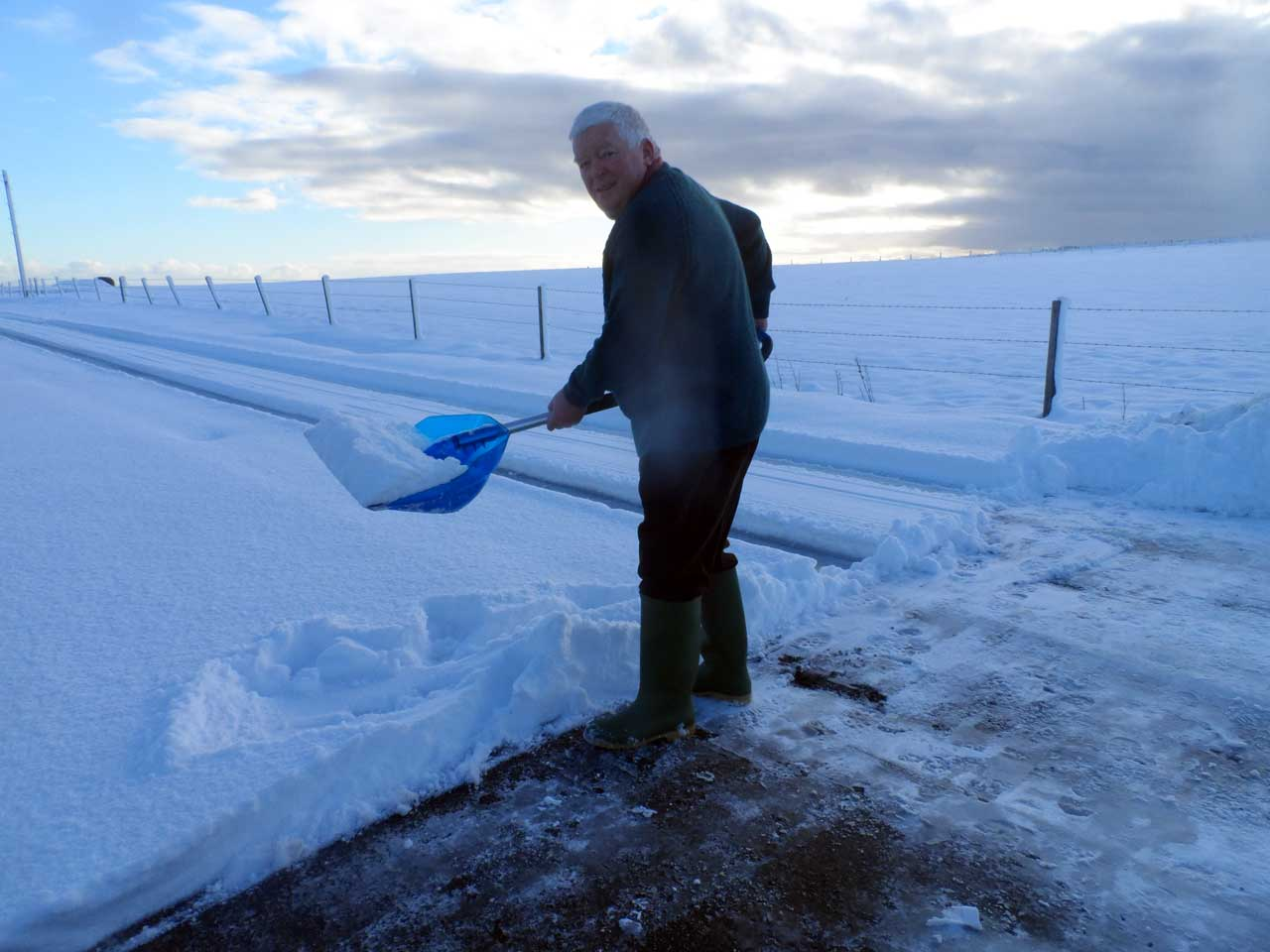 Photo: Bill Clearing Snow At March Road, Wick, Caithness