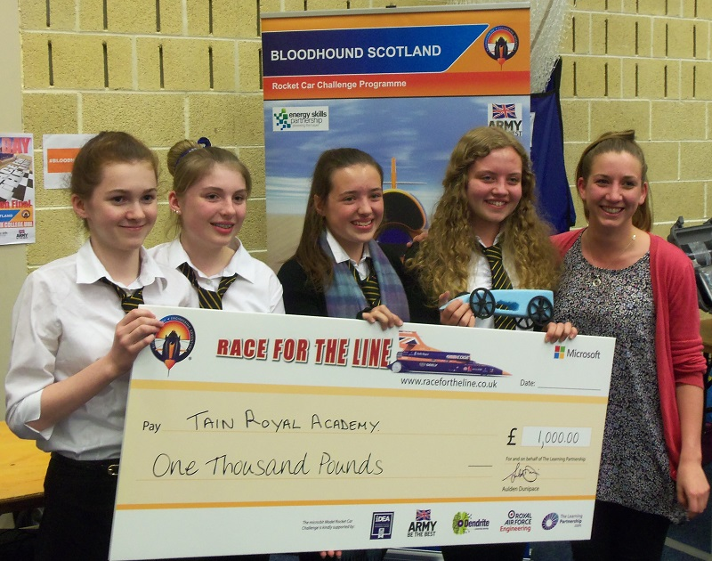 Photo: Bloodhound Rocket Car Competition Winners