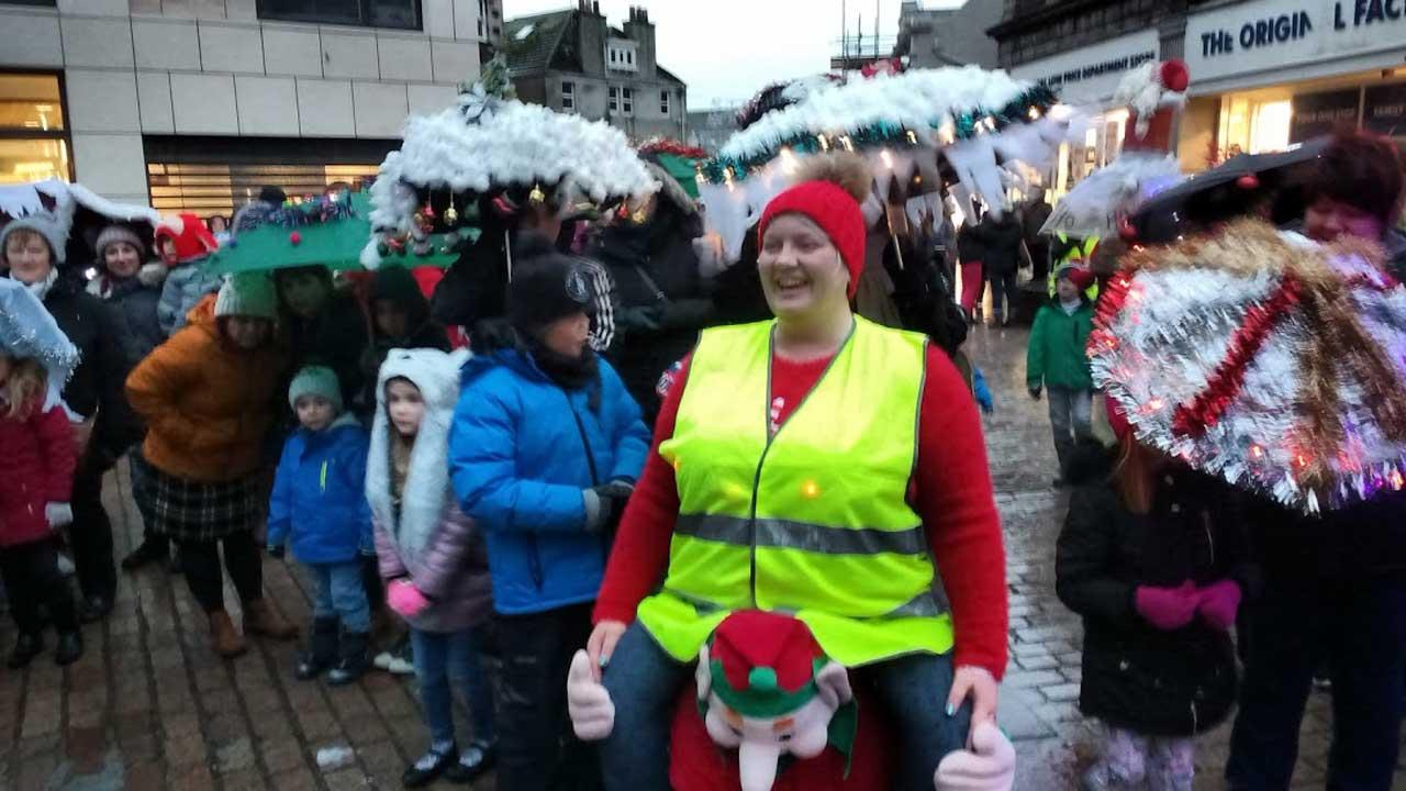 Photo: Christmas Umbrella Parade In Wick