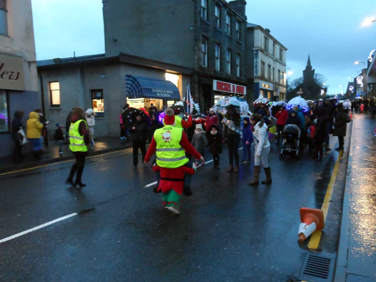 Photo: Christmas Umbrella Parade In Wick