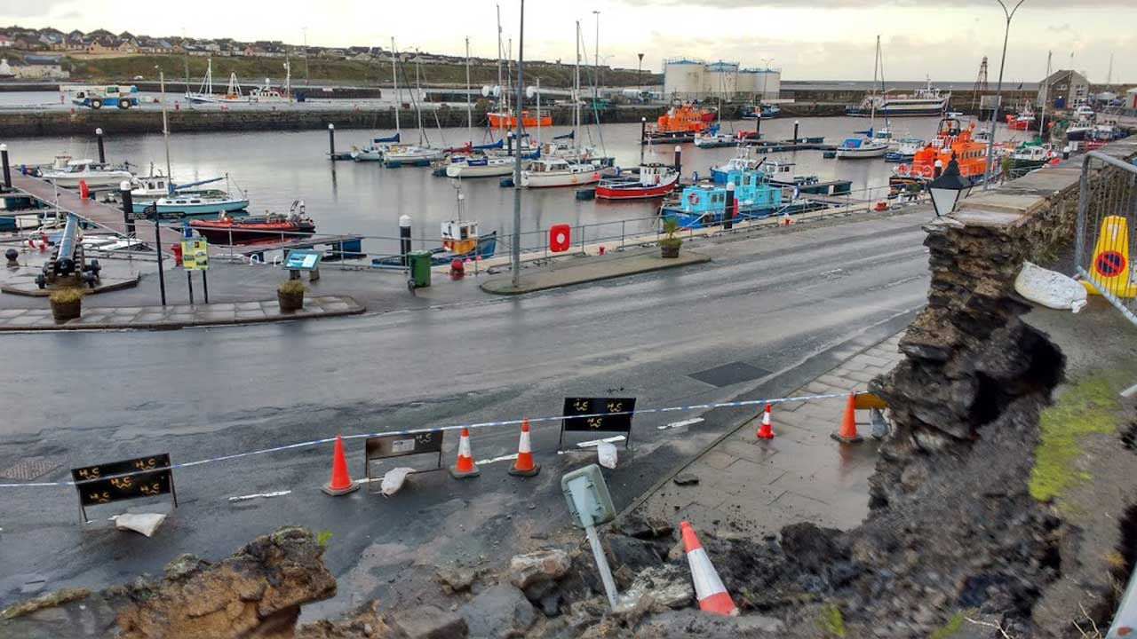 Photo: Wall Collapse At Wick Harbour