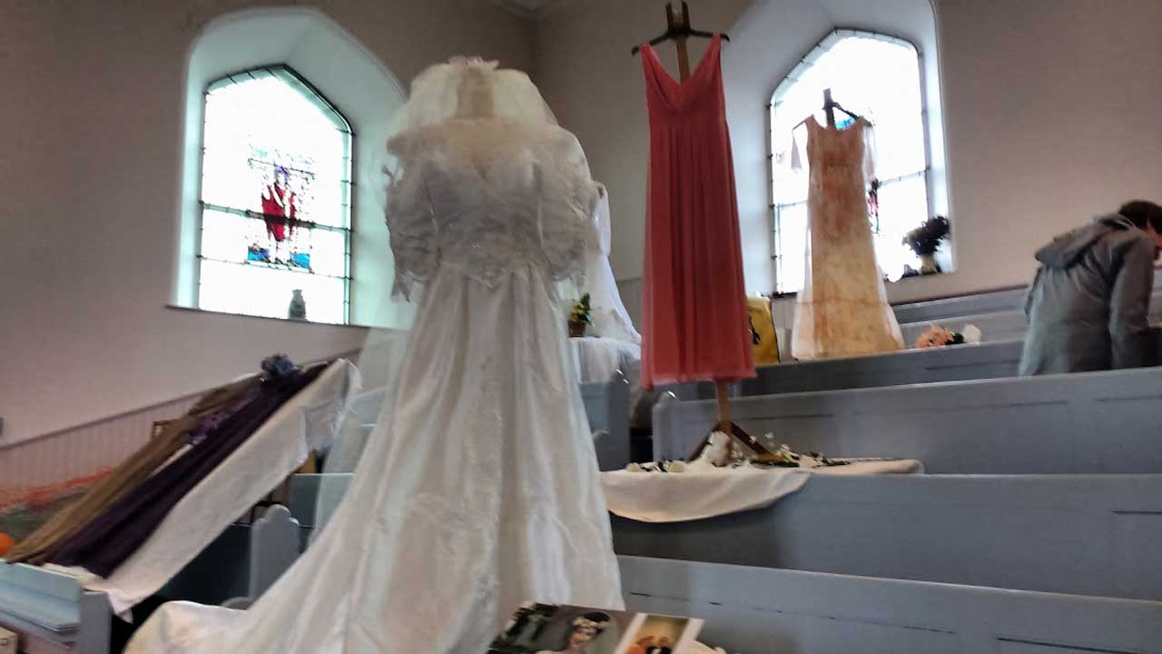Photo: Wedding Dresses Display in Aid of CHAT