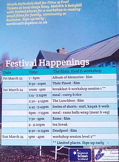 Photo: Halladale Film Festival 23 - 25 March 2018
