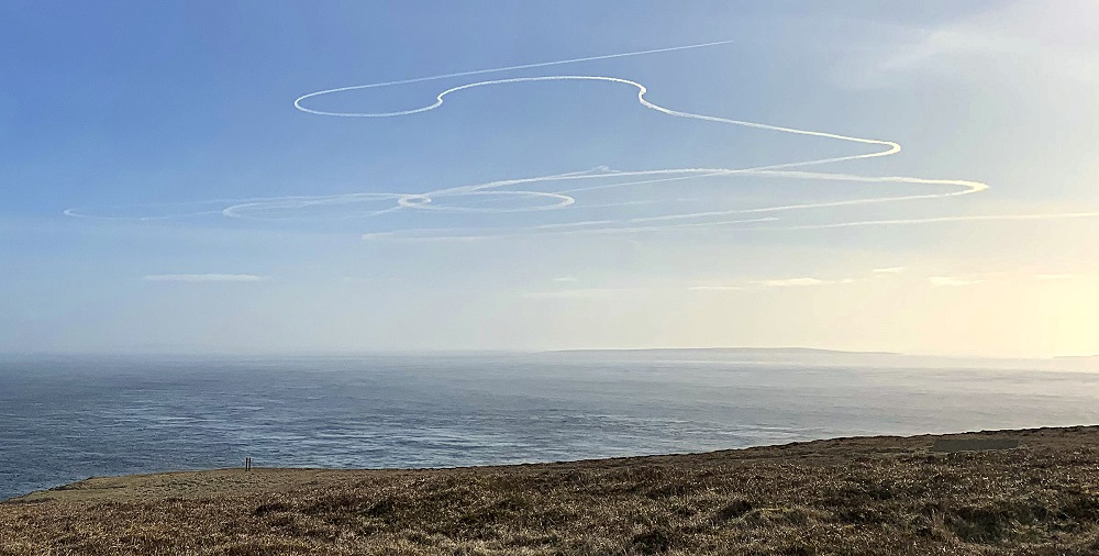 Photo: Who Made The Contrails Above Dunnet - RAF or Russians Who Knows