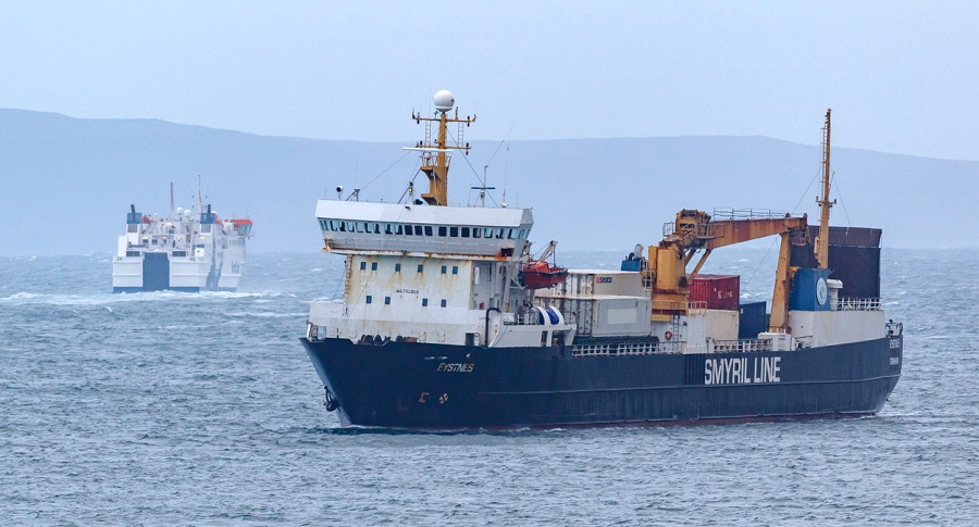 Photo: Eystnes From Faroe Islands Held Up In Thurso Bay