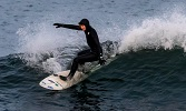 Surfing in Wintry Caithness