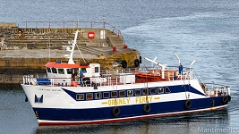 Pentland Venture Returns to Wick after painting and maintenance at Fraserburgh