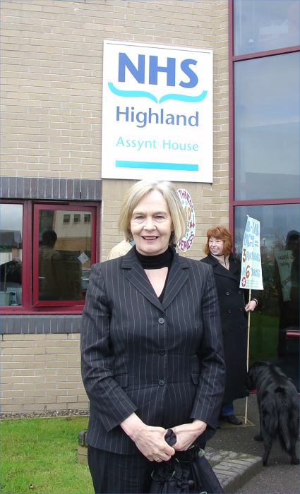 Photo: Mary Scanlon MSP At Health Board Meeting To Hear About Maternity Issue