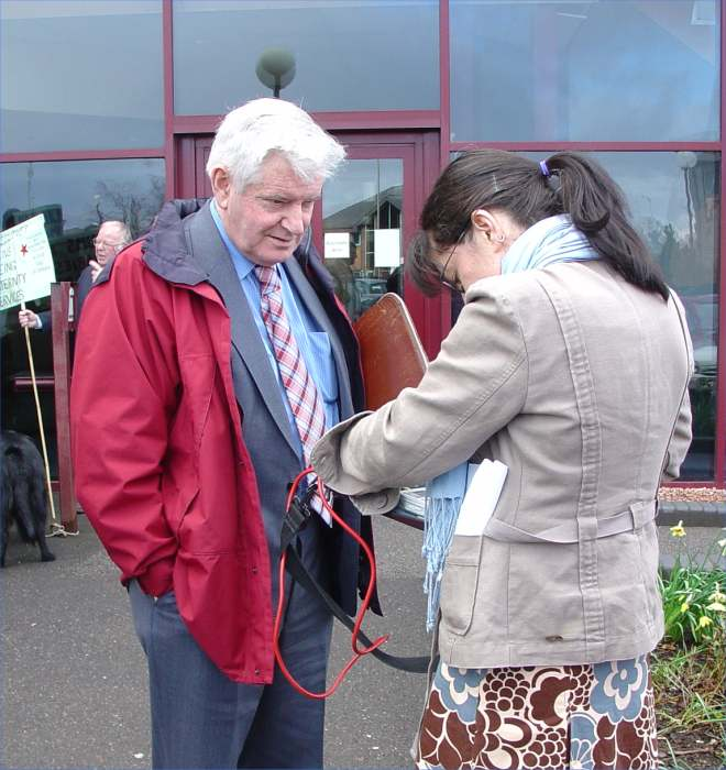 Photo: George Bruce NAG chairman Interviewed by Moray Firth Radio At Health Board Meeting