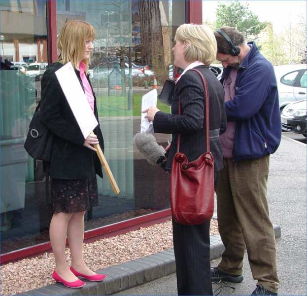 Photo: Aelex Bain NAG Vice-chair Interviewed About Maternity Issue After Health Board Meeting