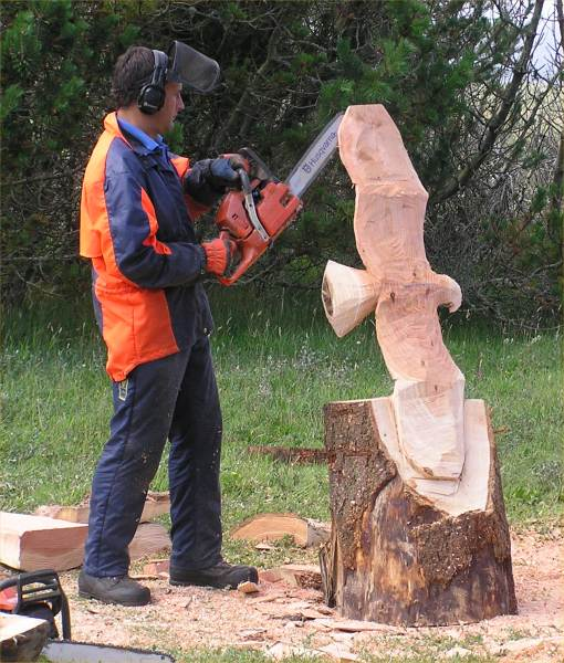 Photo: Pete Bowsher Wood Sculptor