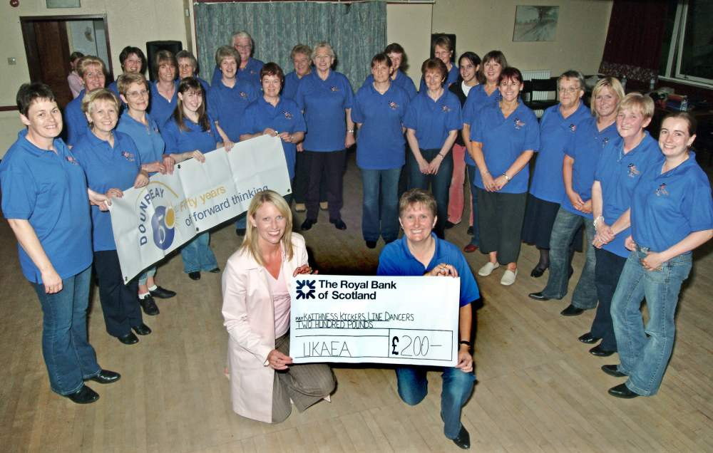 Photo: Kaithness Kickers Receive £200 Donation From UKAEA