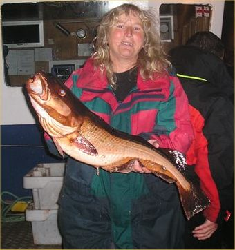 Photo: Patricia Heath With A 13lb Cod