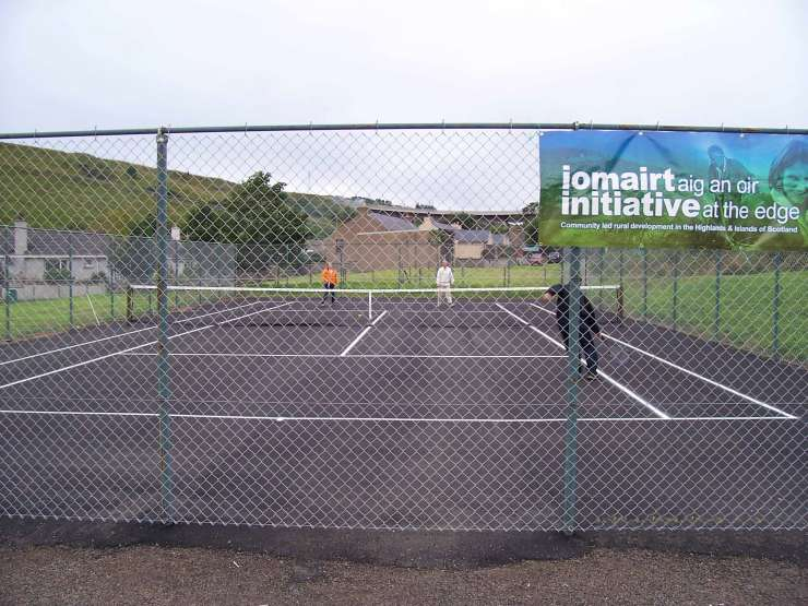 Photo: Tennis Court At Dunbeath Refurbished