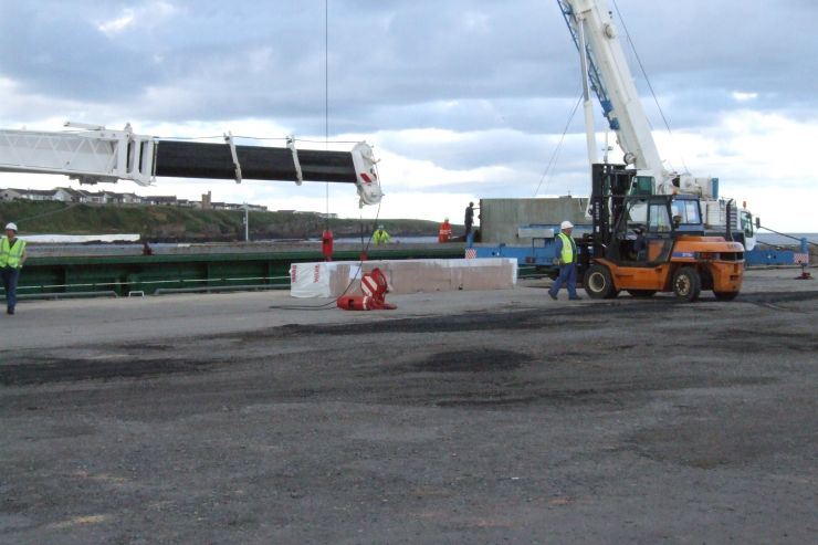 Photo: Steel For Tesco Arrives At Wick Harbour