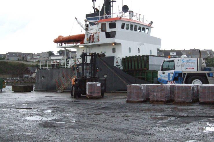 Photo: Tesco Store Unloading At Wick Harbour 1 September