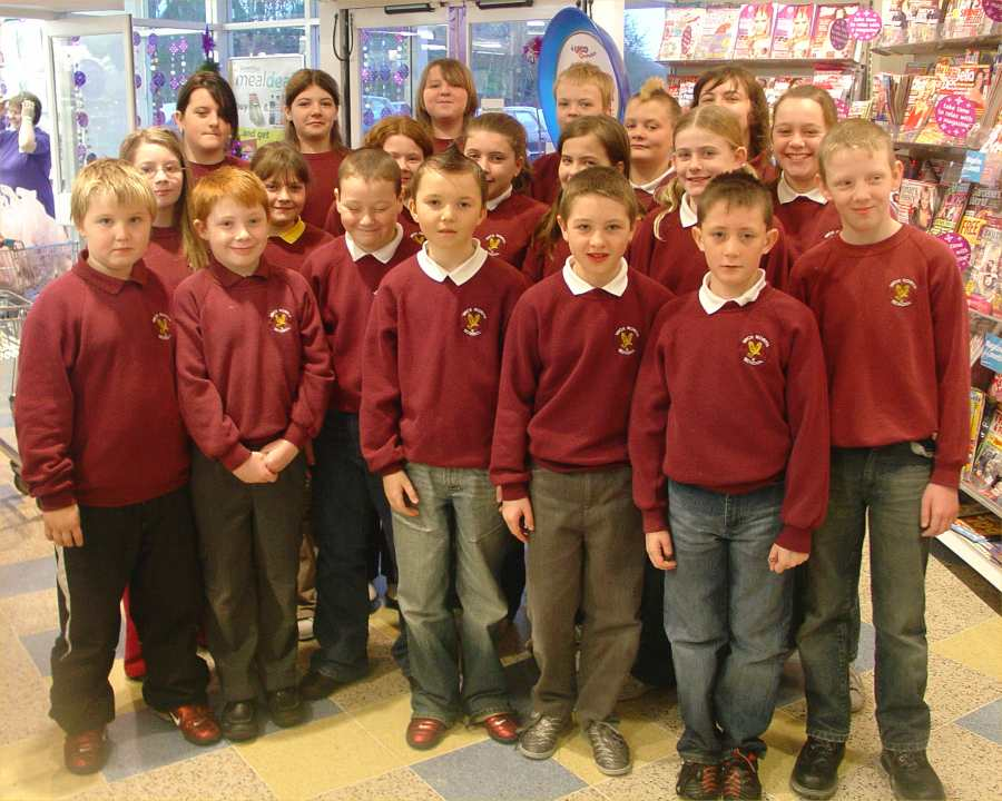 Photo: North School Choir Entertained Somerfield Customers In Wick