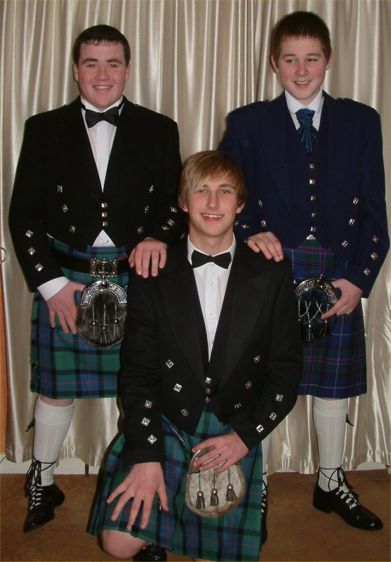 Photo: Liam Miller, Liam Sutherland and Shaun Oman from Thrumster Off To Wick High Prom