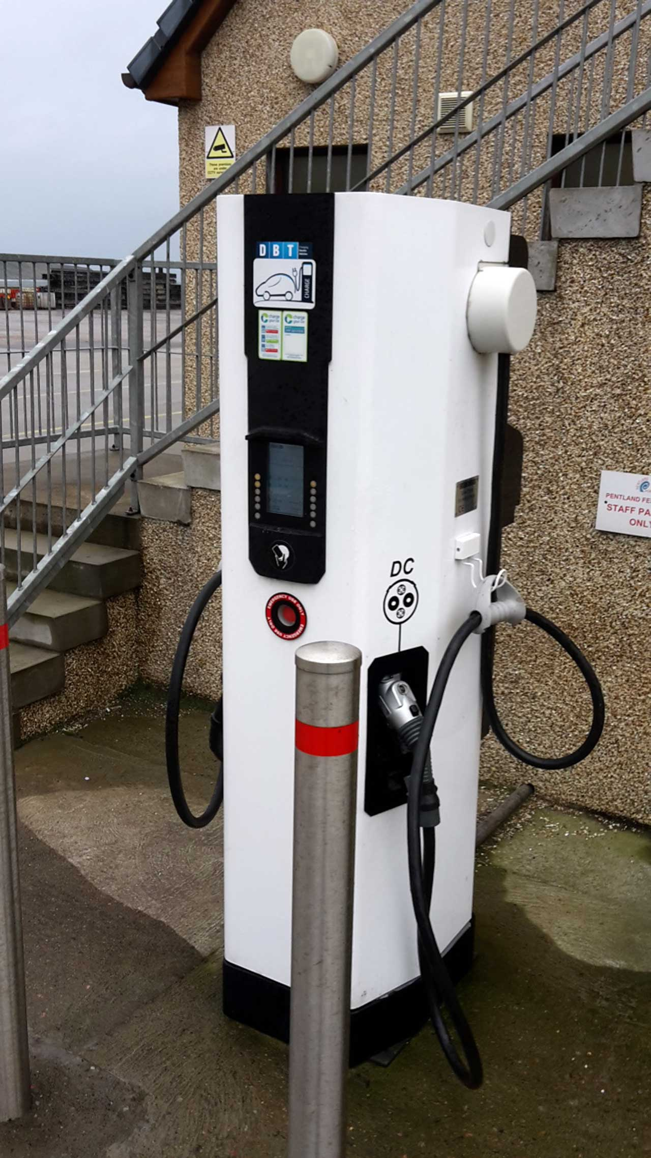 Photo: Electric Car Charge Point, Gills Ferry, Caithness