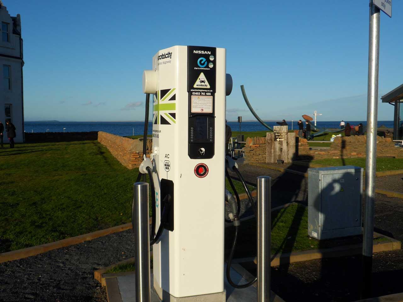 Photo: Electric Car Charge Point, John O'Groats