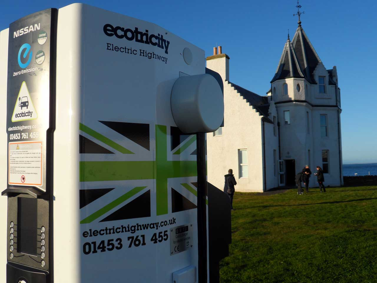 Photo: Electric Car Charge Point, John O'Groats