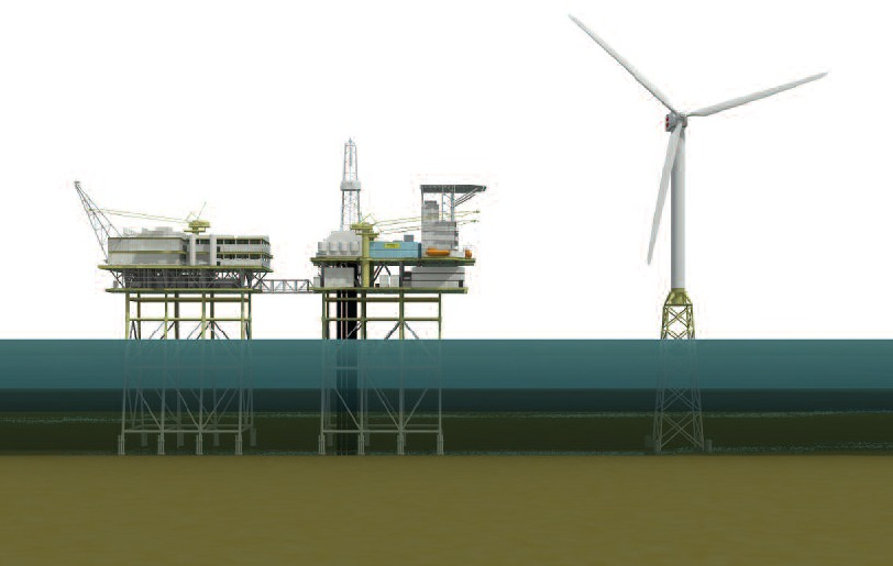 Photo: Artists Impression Of A Turbine For Beatrice Wind Farm