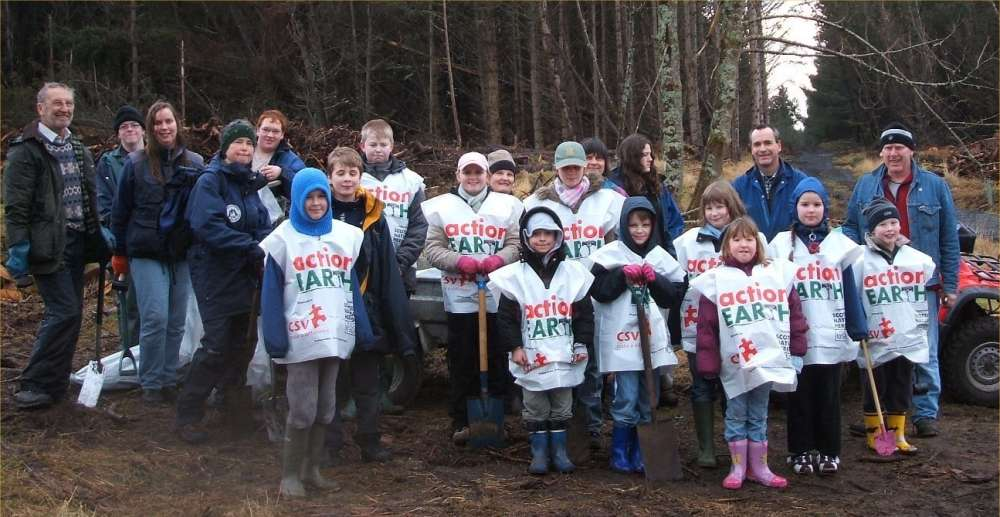 Photo: Volunteers Planted 400 Broadleaf Trees At Dunnet Forest