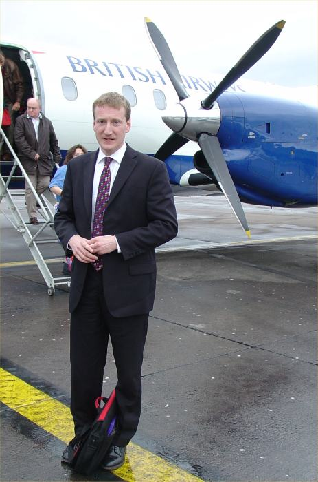 Photo: Tavish Scott At Edinburgh Airport After Announcing Lower Air Fares
