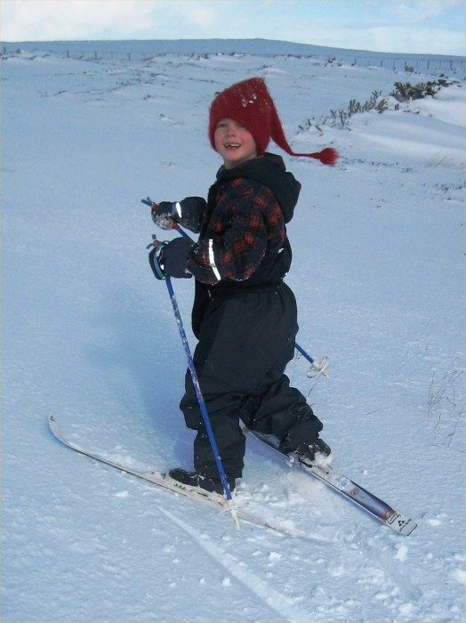 Photo: Andreas Skiing Uphill