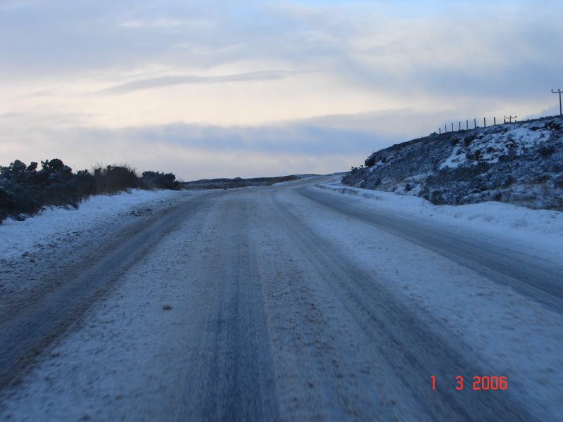 Photo: Winter Finally Comes To Caithness - A9 Road 1 March 2006