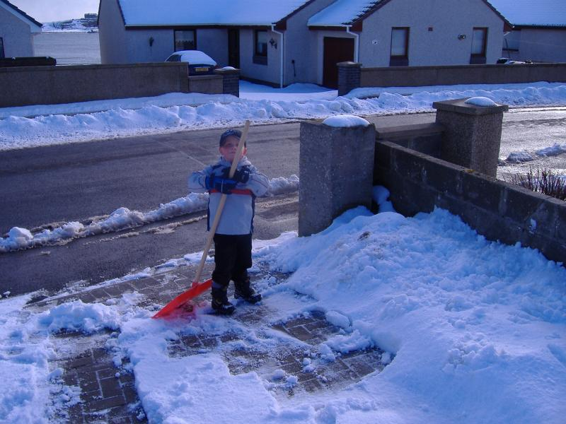 Photo: Joshua Clearing Snow At Proudfoot Road, Wick
