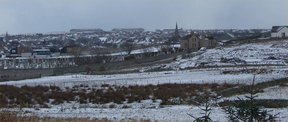 Photo: Winter Finally Comes To Caithness - Wick 28 February 2006