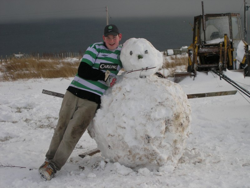 Photo: Tom and the snowman Near Lybster