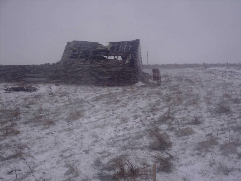 Photo: Winter Finally Comes To Caithness - Upper Lybster 28 February 2006