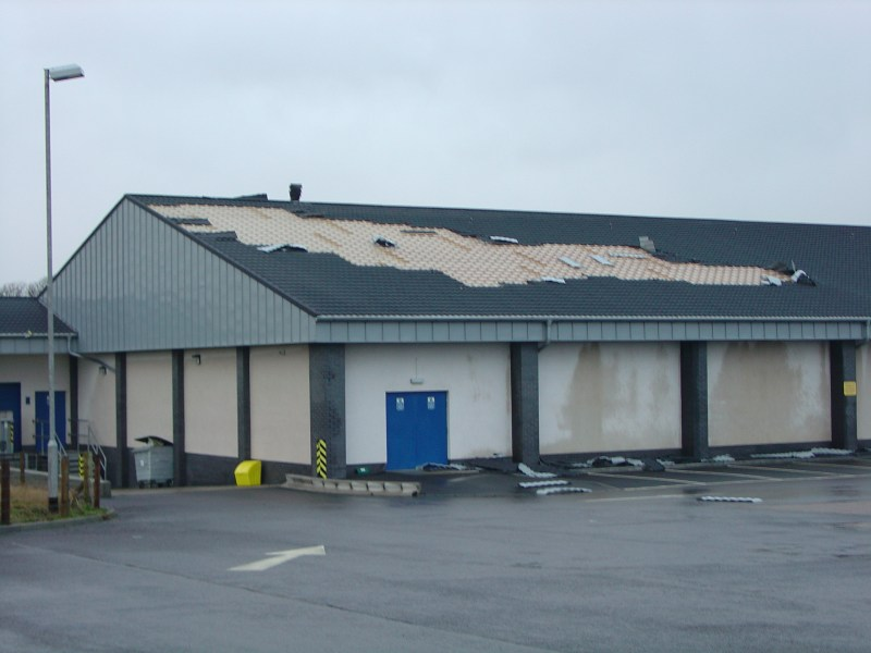 Photo: Lidl Store At Wick Hit By Hugh Winds