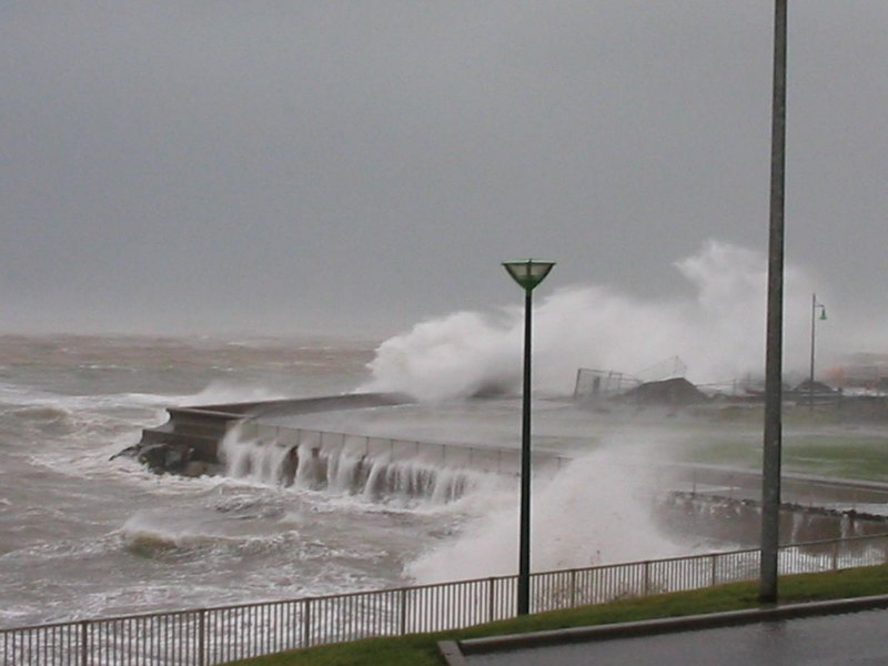 Photo: Storm Lashes Thurso And High Tide Brought Flooding